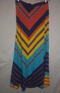Lane Bryant Bright Stripe Maxi Skirt 22/24 Plus